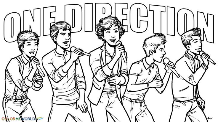 Best ideas about One Direction Free Coloring Pages . Save or Pin one direction coloring pages Now.