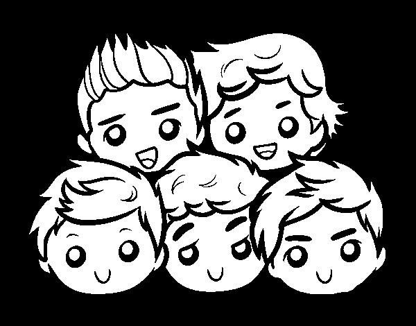 Best ideas about One Direction Free Coloring Pages . Save or Pin e Direction 2 coloring page Now.