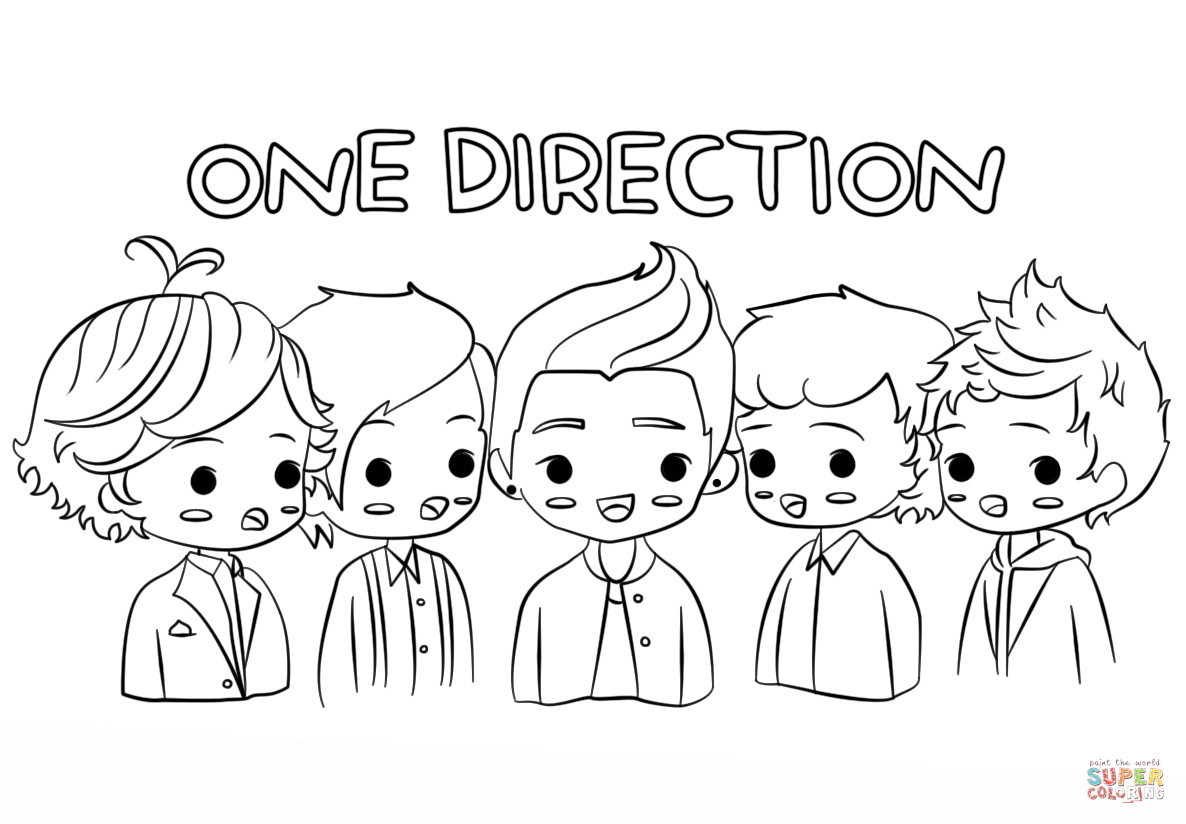 Best ideas about One Direction Free Coloring Pages . Save or Pin Chibi e Direction coloring page Now.