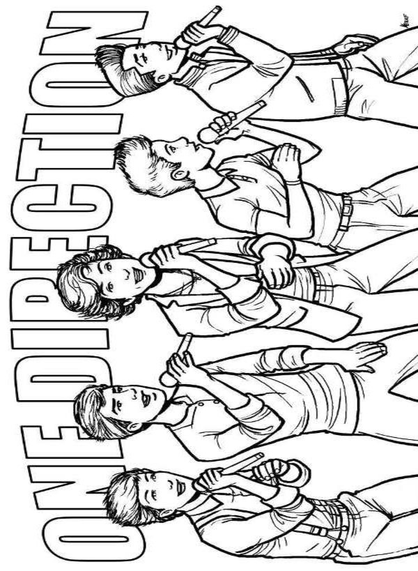 Best ideas about One Direction Free Coloring Pages . Save or Pin e Direction 6 Printable coloring pages Now.