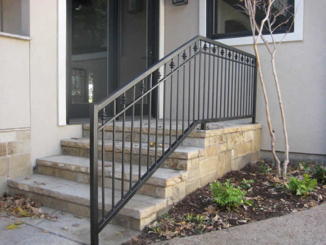 Best ideas about Outdoor Metal Stair Railing . Save or Pin Exterior Stair Railings Porch Ideas Now.