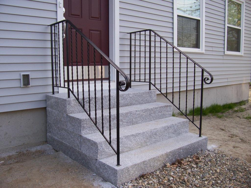 Best ideas about Outdoor Metal Stair Railing . Save or Pin Outdoor Iron Stair Railing Wrought Handrails Stairs Hand Now.