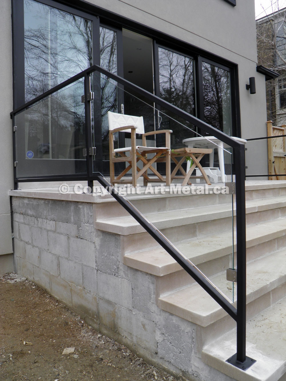 Best ideas about Outdoor Metal Stair Railing . Save or Pin Metal Porch Stair Rails Now.