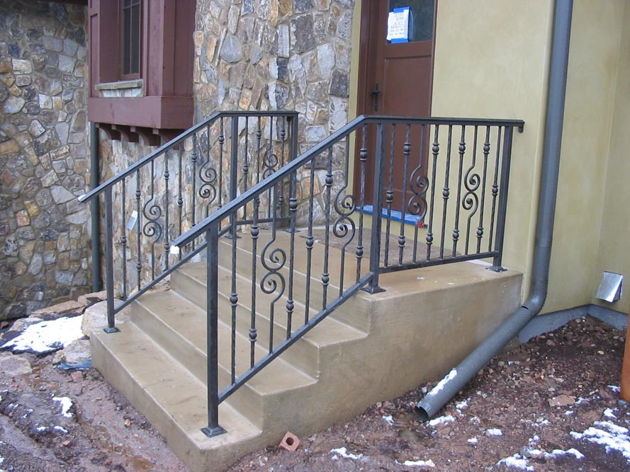 Best ideas about Outdoor Metal Stair Railing . Save or Pin Outdoor Stair Railing Metal — New Home Design Install Now.