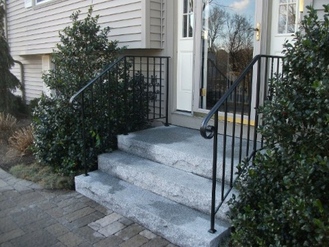 Best ideas about Outdoor Metal Stair Railing . Save or Pin Exterior wrought iron stair railings wrought iron stair Now.
