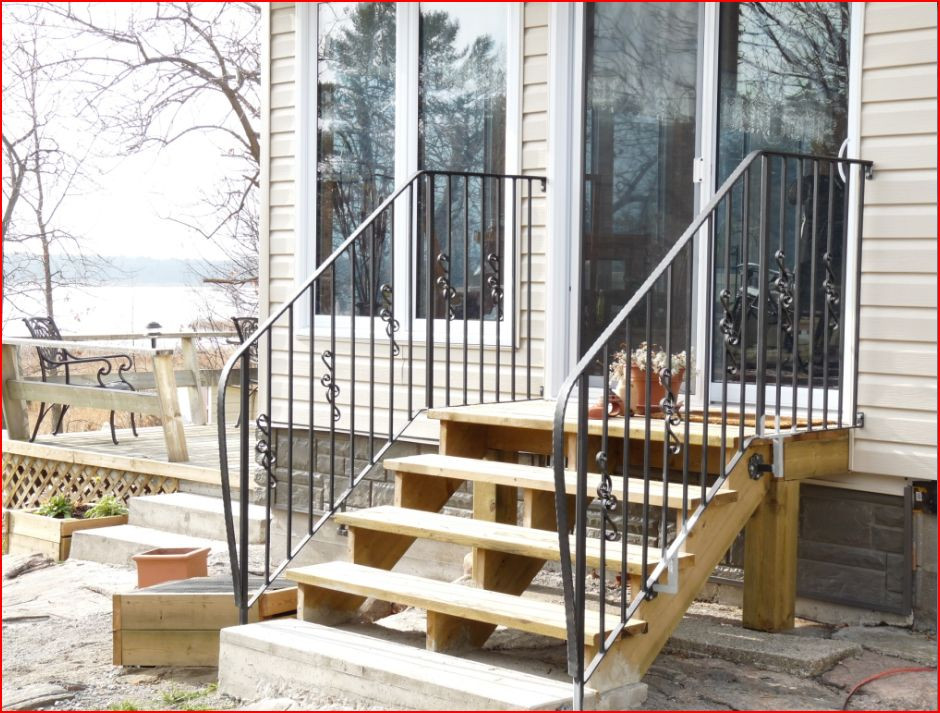 Best ideas about Outdoor Metal Stair Railing . Save or Pin Unique Outdoor Metal Stair Railing 8 Wrought Iron Outdoor Now.