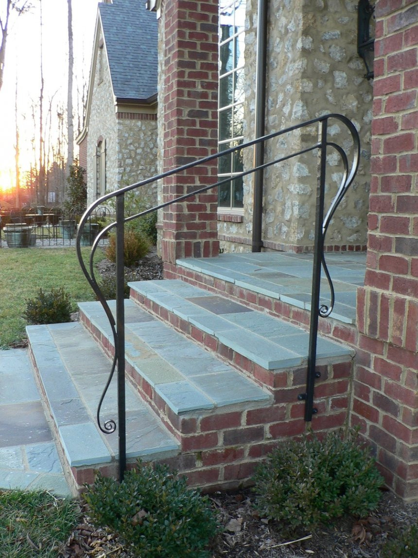Best ideas about Outdoor Metal Stair Railing . Save or Pin Outdoor Handrails For Steps Effigy Rod Iron Railing Now.