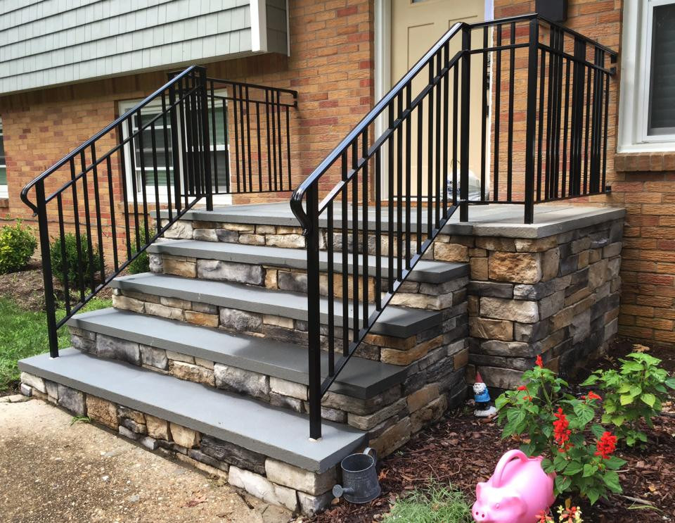 Best ideas about Outdoor Metal Stair Railing . Save or Pin To Replace a Metal Exterior Stair Railings Now.