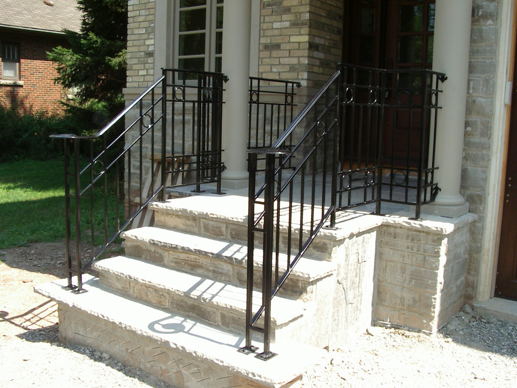 Best ideas about Outdoor Metal Stair Railing . Save or Pin Durable Outdoor Wrought Iron Stair Railing for Deck Now.