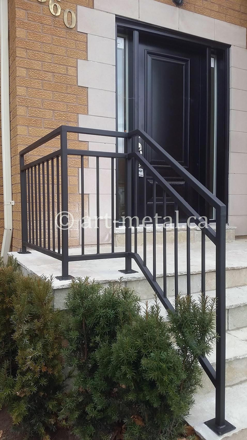 Best ideas about Outdoor Metal Stair Railing . Save or Pin Exterior Railings & Handrails for Stairs Porches Decks Now.