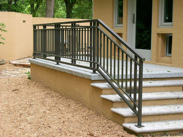 Best ideas about Outdoor Metal Stair Railing . Save or Pin Exterior Railing Gainesville Iron Works Now.