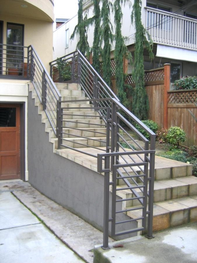 Best ideas about Outdoor Metal Stair Railing . Save or Pin Exterior Wrought Iron Stair Railings Home Depot Interior Now.