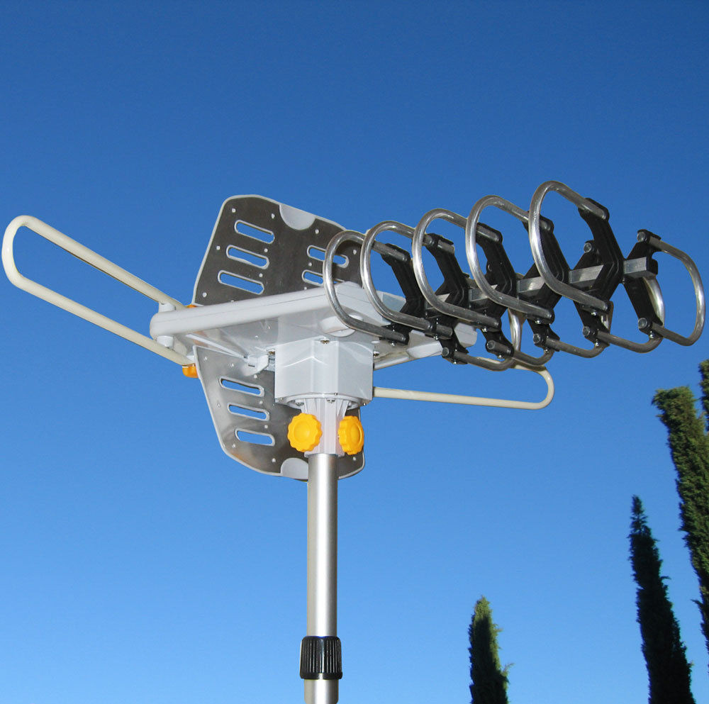 Best ideas about Outdoor Tv Antenna Reviews . Save or Pin 150MILES OUTDOOR TV ANTENNA MOTORIZED AMPLIFIED HDTV HIGH Now.