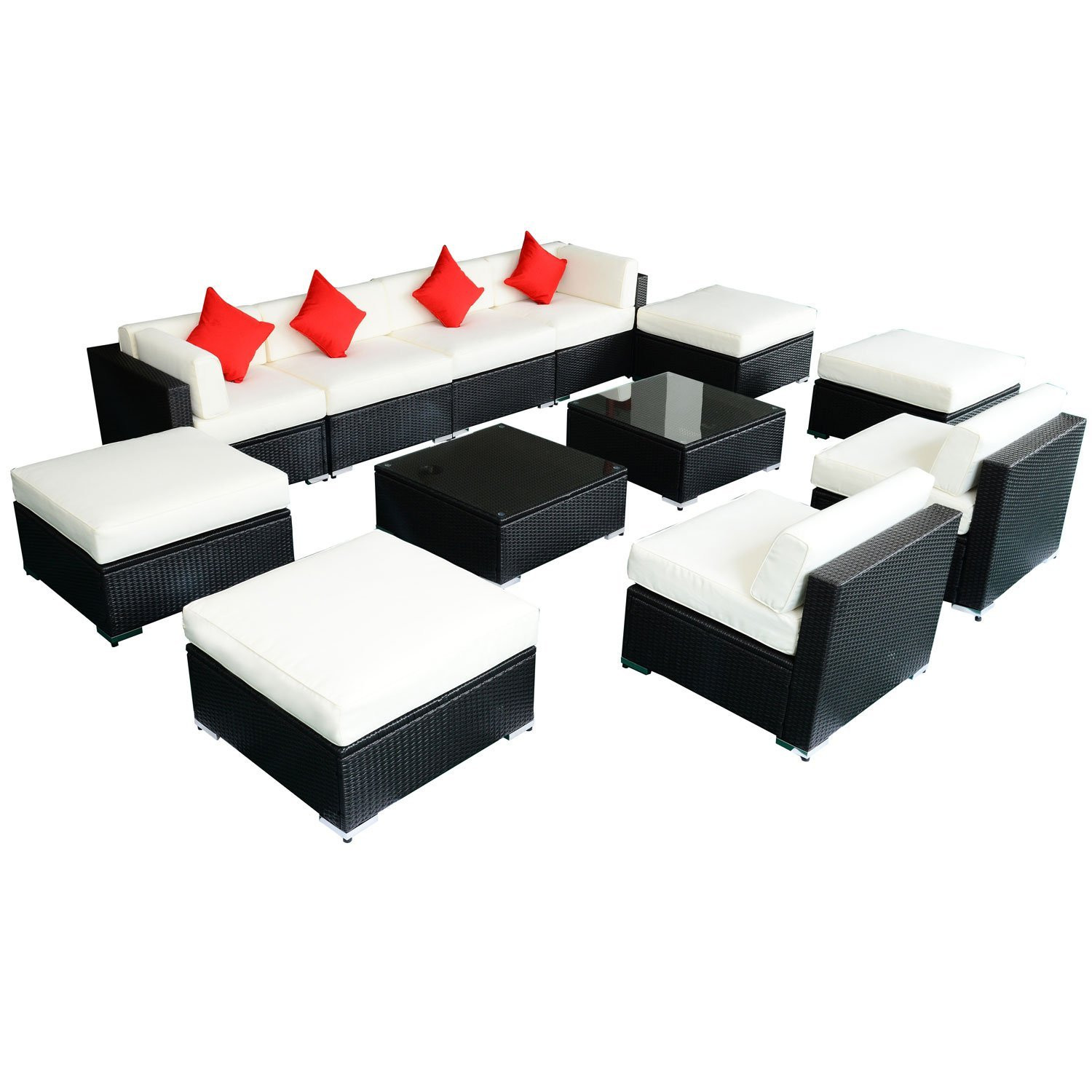 Best ideas about Outsunny Patio Furniture . Save or Pin Outsunny 12 pc Outdoor Deluxe Rattan Sofa Sectional Patio Now.