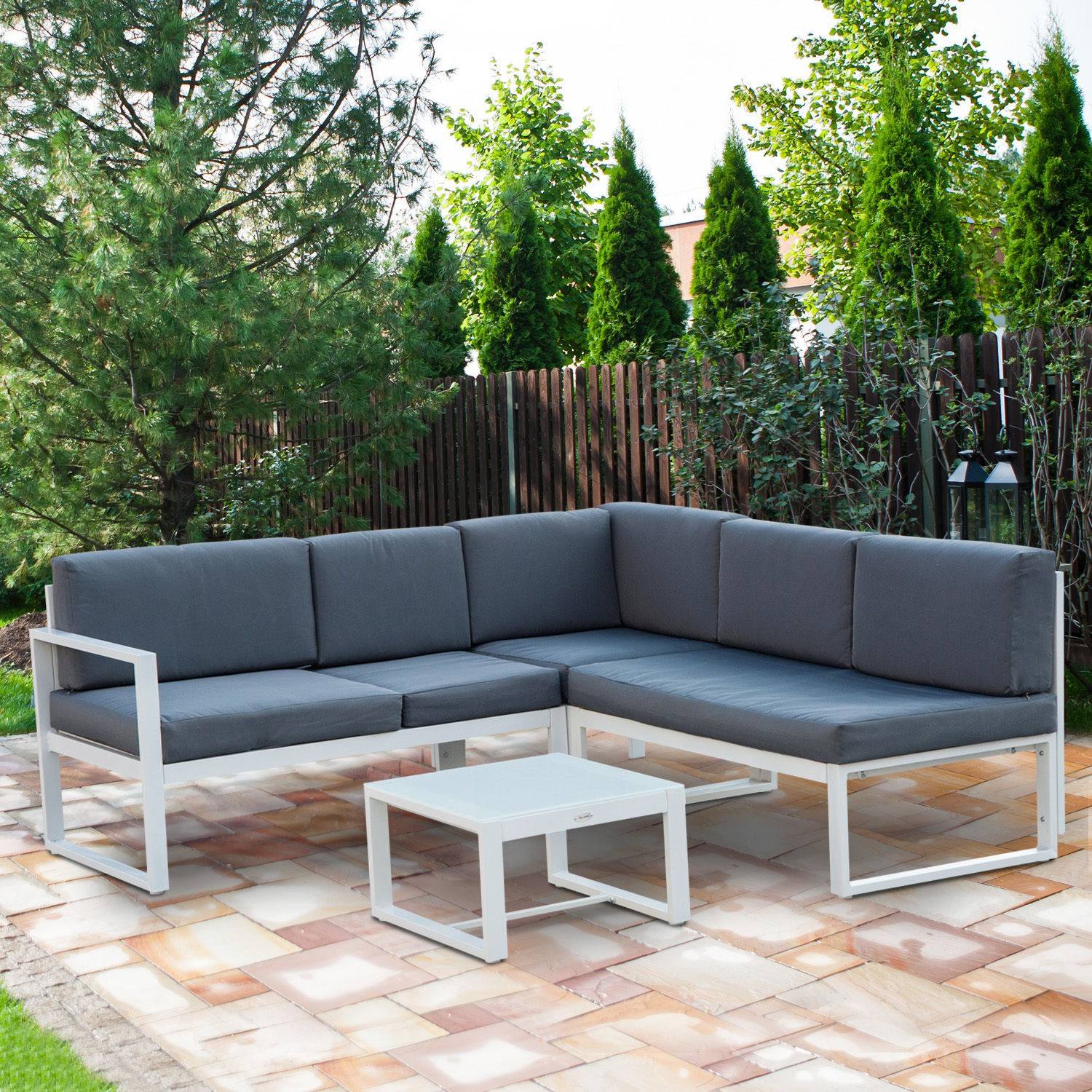 Best ideas about Outsunny Patio Furniture . Save or Pin Outsunny 4pc Adjustable Aluminum Outdoor Sectional Patio Now.