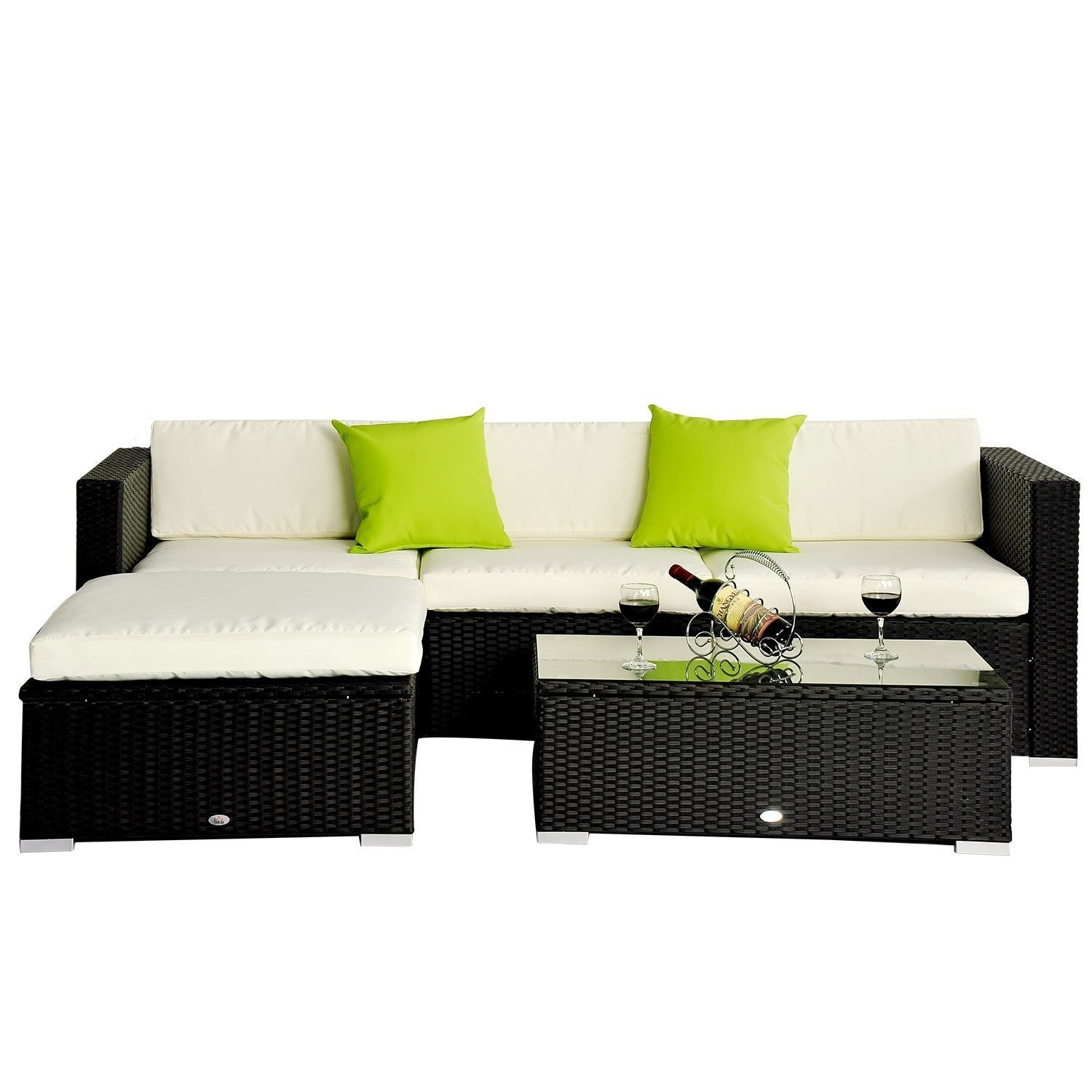 Best ideas about Outsunny Patio Furniture . Save or Pin Outsunny 5pc Rattan Outdoor Patio Furniture Set – Ideal Now.