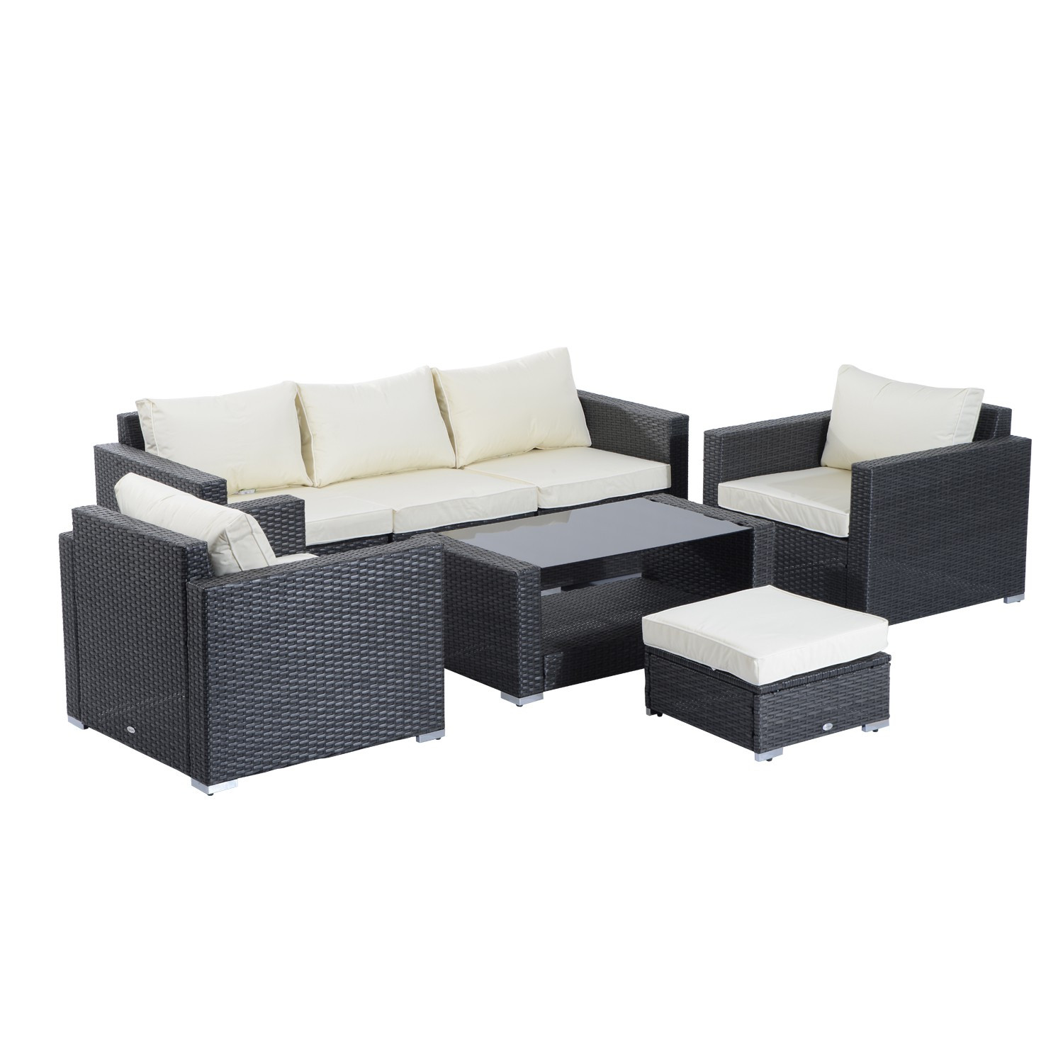 Best ideas about Outsunny Patio Furniture . Save or Pin Outsunny 7pcs outdoor rattan patio furniture set Now.