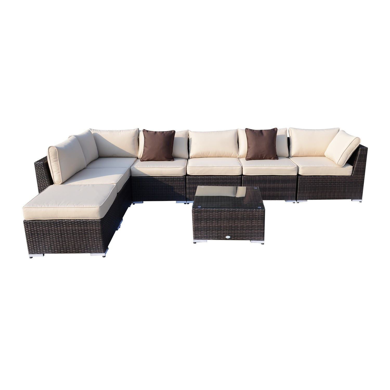 Best ideas about Outsunny Patio Furniture . Save or Pin Outsunny 8pcs outdoor rattan patio furniture set Now.
