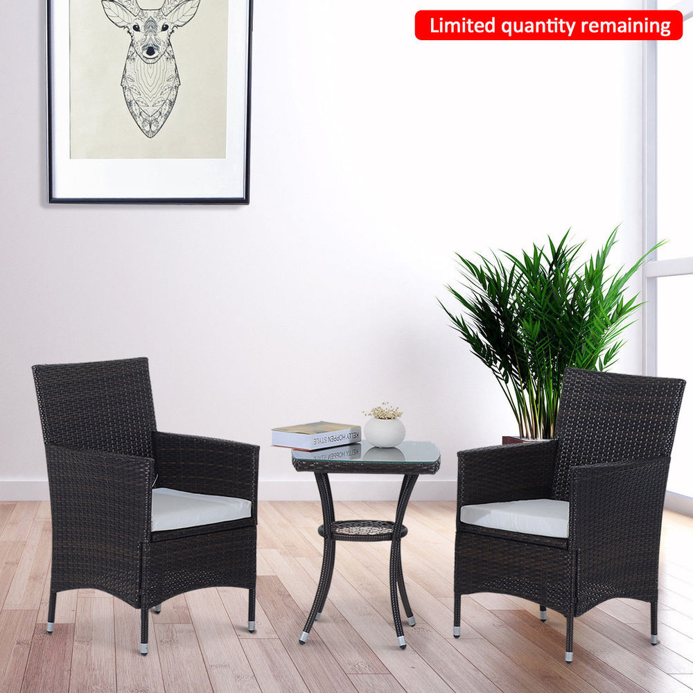 Best ideas about Outsunny Patio Furniture . Save or Pin Outsunny 3PC Rattan Furniture Bistro Set Garden Chair Now.