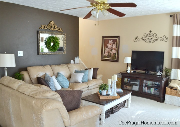 Best ideas about Painting Accent Walls . Save or Pin How to Paint a Diamond Accent Wall using ScotchBlue Now.