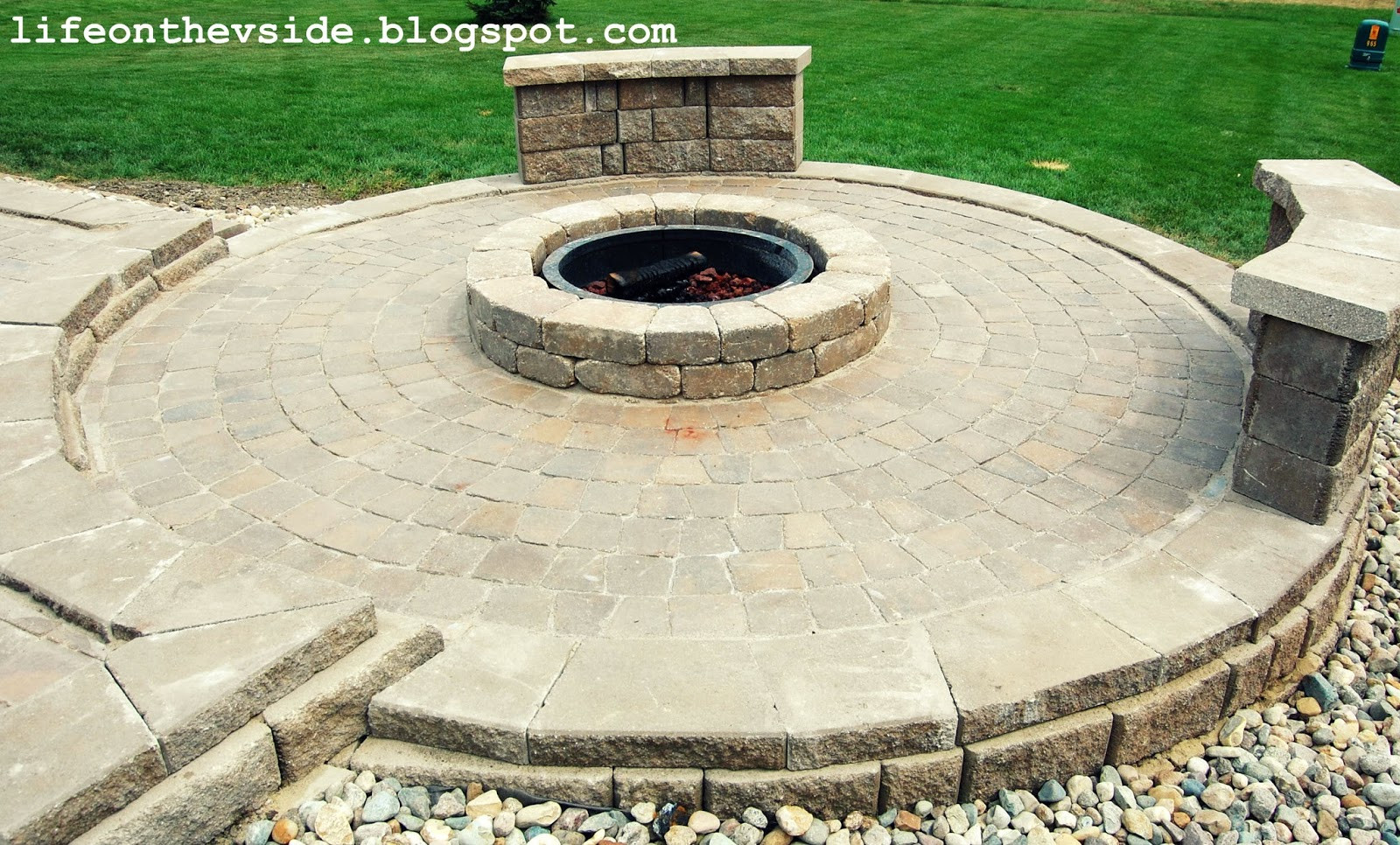 Best ideas about Patio Fire Pit . Save or Pin the V Side He Built Me a Patio And I Liked It Now.
