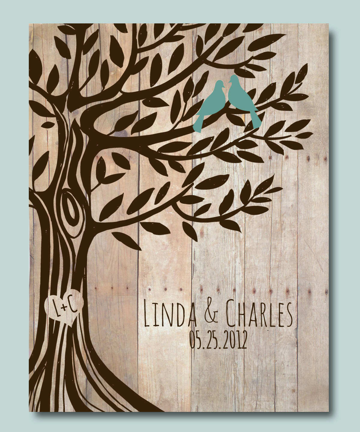 Best ideas about Personalized Wedding Gift Ideas . Save or Pin Personalized Wedding Gift Love Birds Tree Engagement t Now.