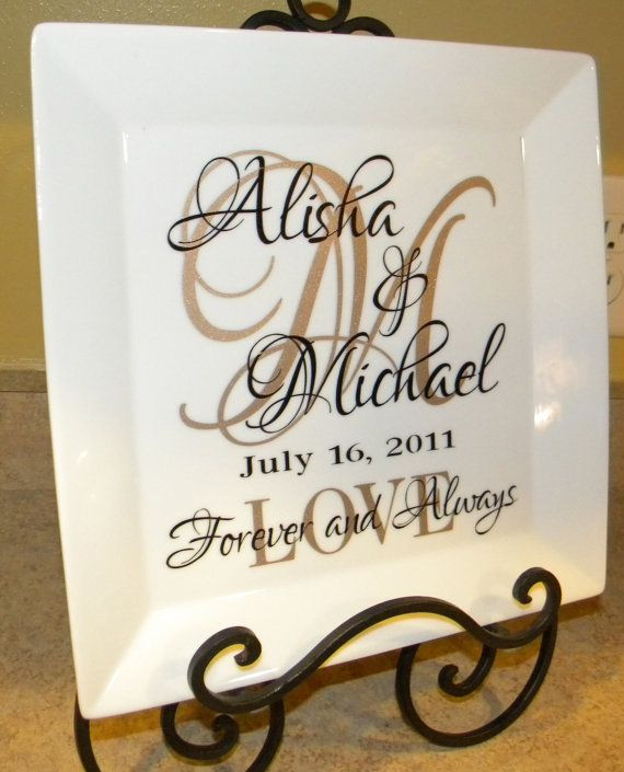 Best ideas about Personalized Wedding Gift Ideas . Save or Pin Personalized Wedding Gift Plate Anniversary Gift For Now.