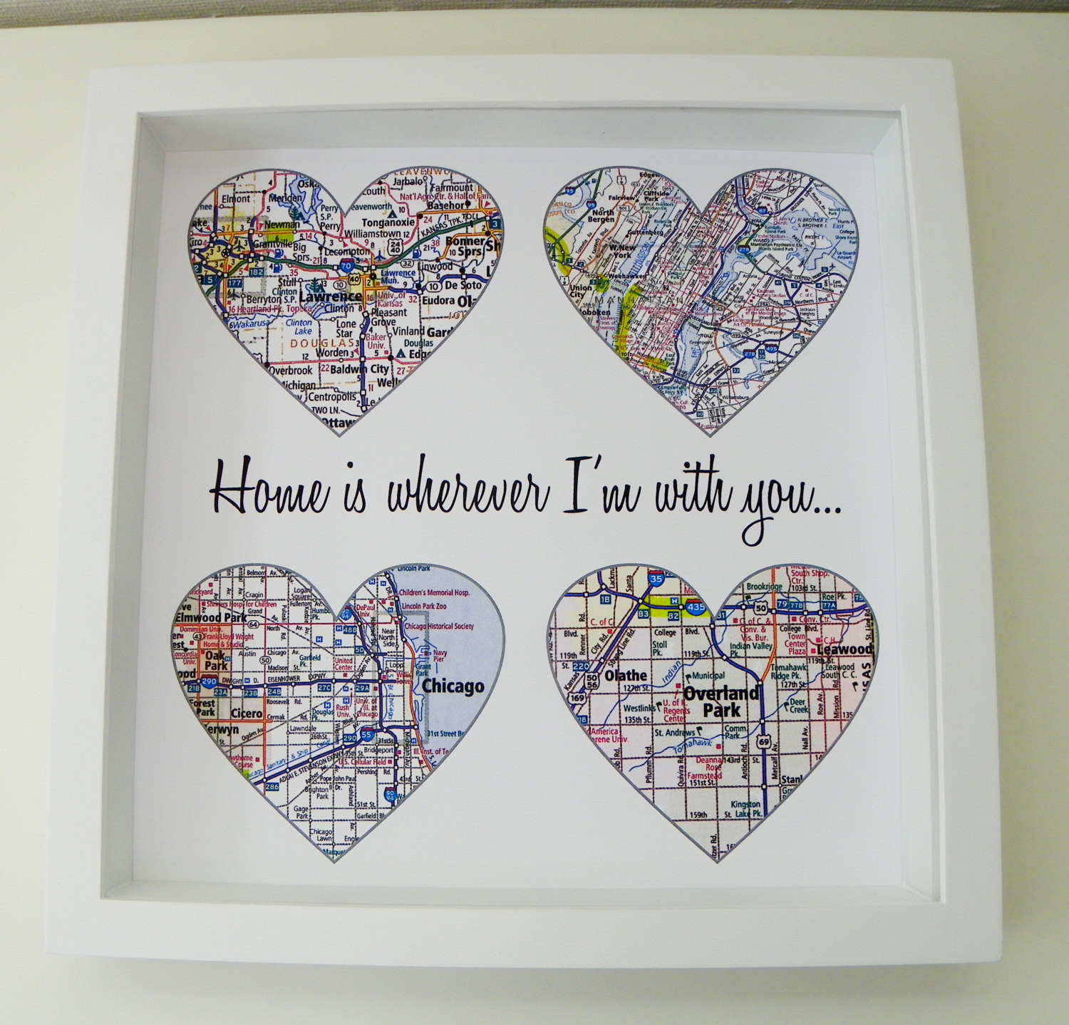 Best ideas about Personalized Wedding Gift Ideas . Save or Pin Heart Map Art Personalized Engagement Gift Unique Wedding Gift Now.