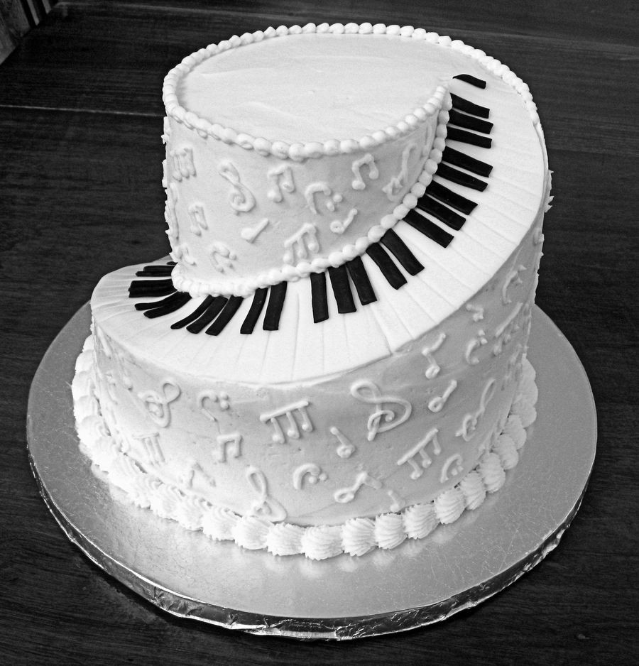 Best ideas about Piano Birthday Cake . Save or Pin Spiral Piano Cake CakeCentral Now.