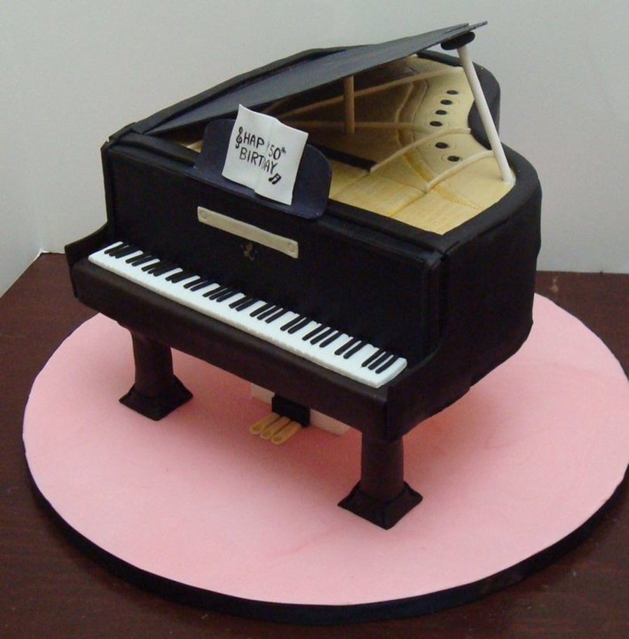 Best ideas about Piano Birthday Cake . Save or Pin Baby Grand Piano Cake CakeCentral Now.