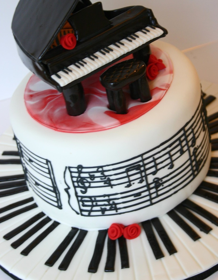 Best ideas about Piano Birthday Cake . Save or Pin Piano And Music Cake CakeCentral Now.