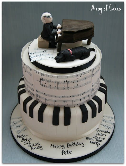 Best ideas about Piano Birthday Cake . Save or Pin Musical Birthday Cake cake by Emma CakesDecor Now.