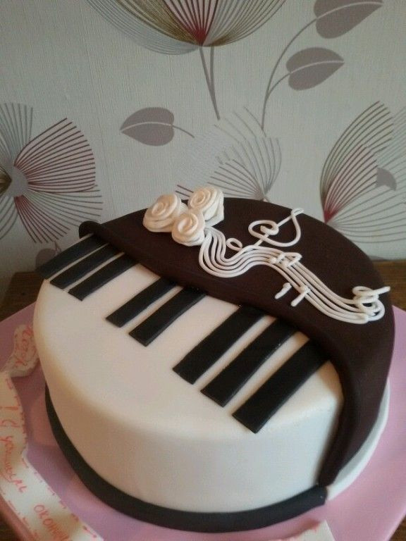 Best ideas about Piano Birthday Cake . Save or Pin 6 Одноклассники Music Cakes Pinterest Now.