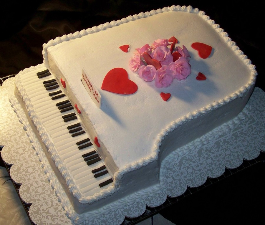 Best ideas about Piano Birthday Cake . Save or Pin 16Th Birthday Valentines Day Grand Piano Cake Now.