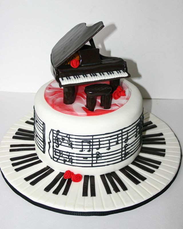 Best ideas about Piano Birthday Cake . Save or Pin Piano Cake Recipe — Dishmaps Now.