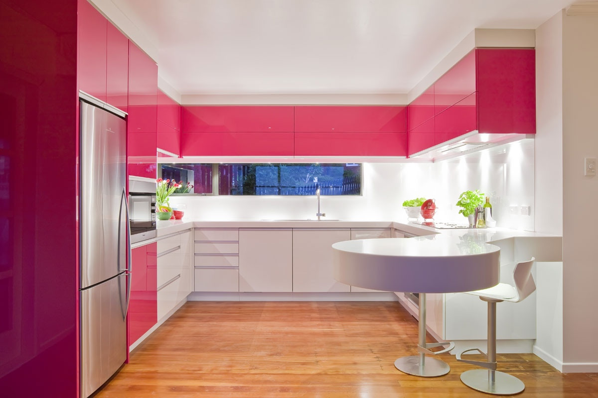 Best ideas about Pink Kitchen Decor . Save or Pin Pink Kitchen Decorating Ideas in Elegant Style Now.