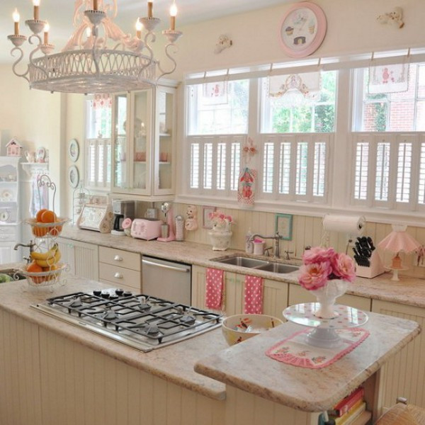 Best ideas about Pink Kitchen Decor . Save or Pin Vintage Yet Romantic Kitchen to Suit Your Taste Now.