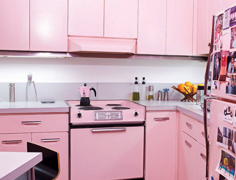 Best ideas about Pink Kitchen Decor . Save or Pin Cool Pink Kitchen Design With Retro and Chic Look Now.