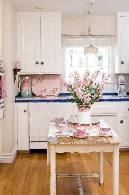 Best ideas about Pink Kitchen Decor . Save or Pin 35 Awesome Shabby Chic Kitchen Designs Accessories and Now.