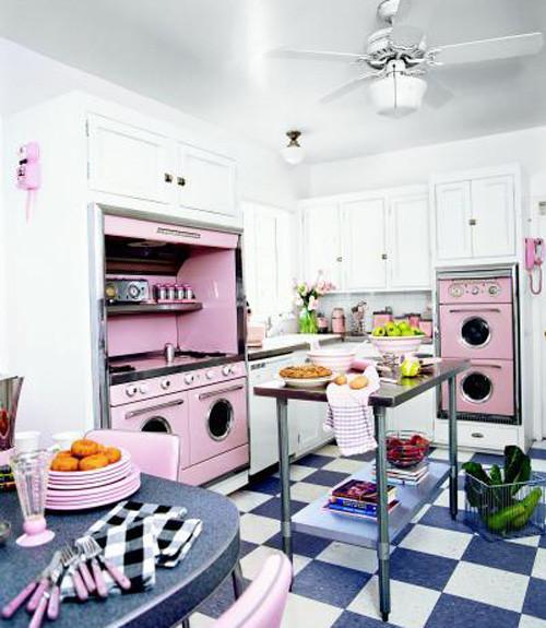 Best ideas about Pink Kitchen Decor . Save or Pin Pink Retro Kitchen Decorating Ideas Vintage Kitchen Decor Now.