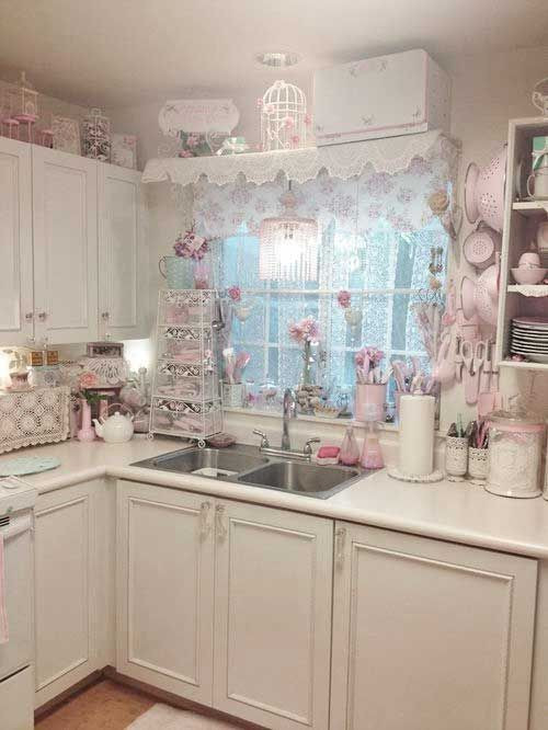 Best ideas about Pink Kitchen Decor . Save or Pin 32 Sweet Shabby Chic Kitchen Decor Ideas To Try Shelterness Now.