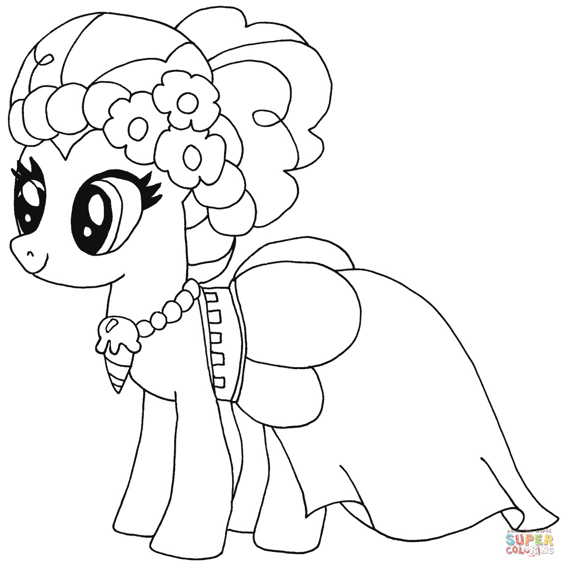 Best ideas about Pinky Pie Coloring Pages For Girls . Save or Pin Pinkie Pie from My Little Pony Coloring Page My Little Now.