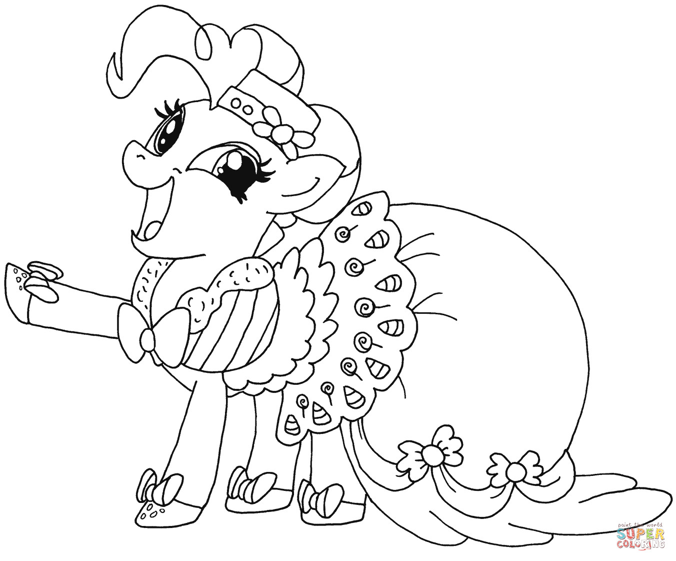Best ideas about Pinky Pie Coloring Pages For Girls . Save or Pin My Little Pony Pinkie Pie coloring page Now.