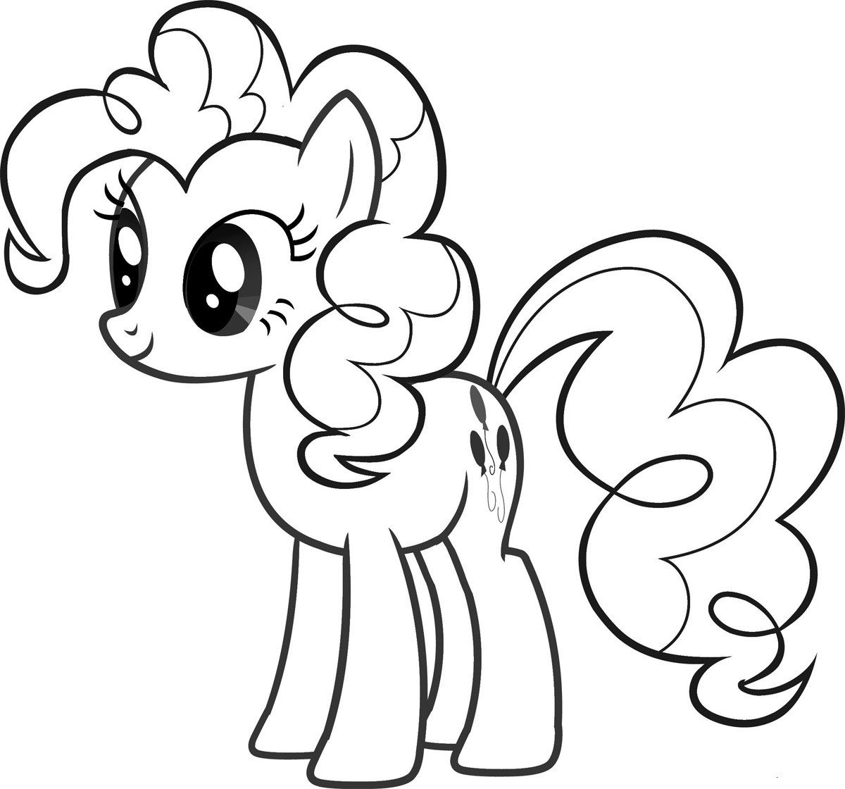 Best ideas about Pinky Pie Coloring Pages For Girls . Save or Pin Pinkie Pie pony coloring pages for girls to print for free Now.