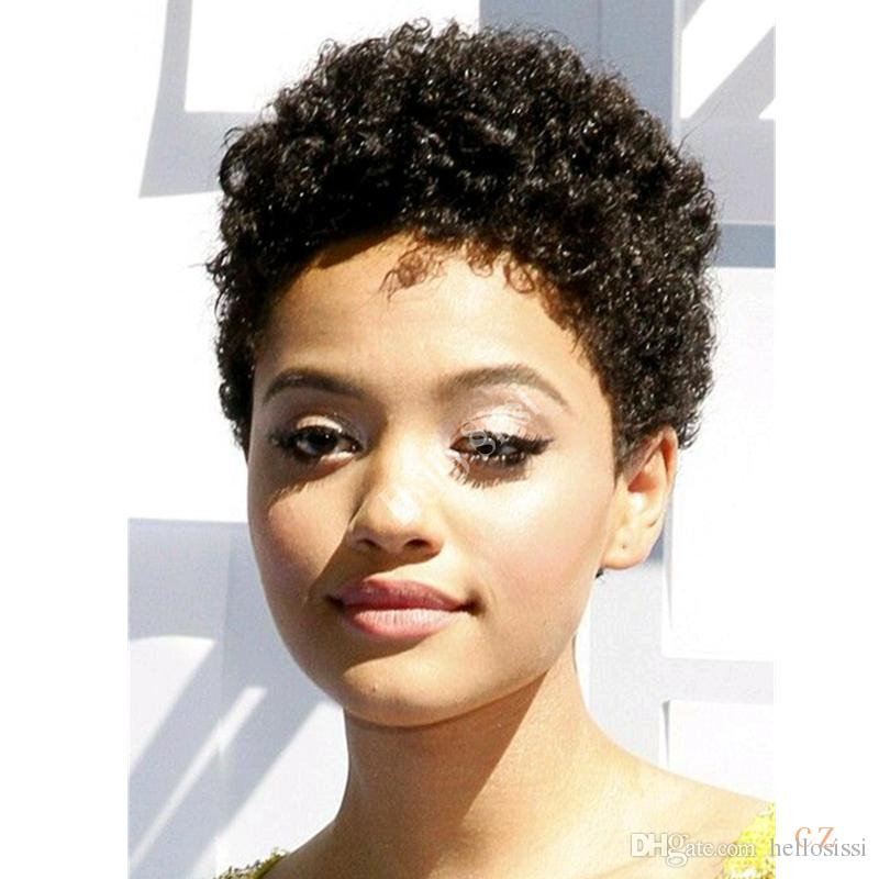 Best ideas about Pixie Cut On Natural Black Hair . Save or Pin Afro Kinky Curly Celebrity Wig Pixie Cut Glueless Pixie Now.