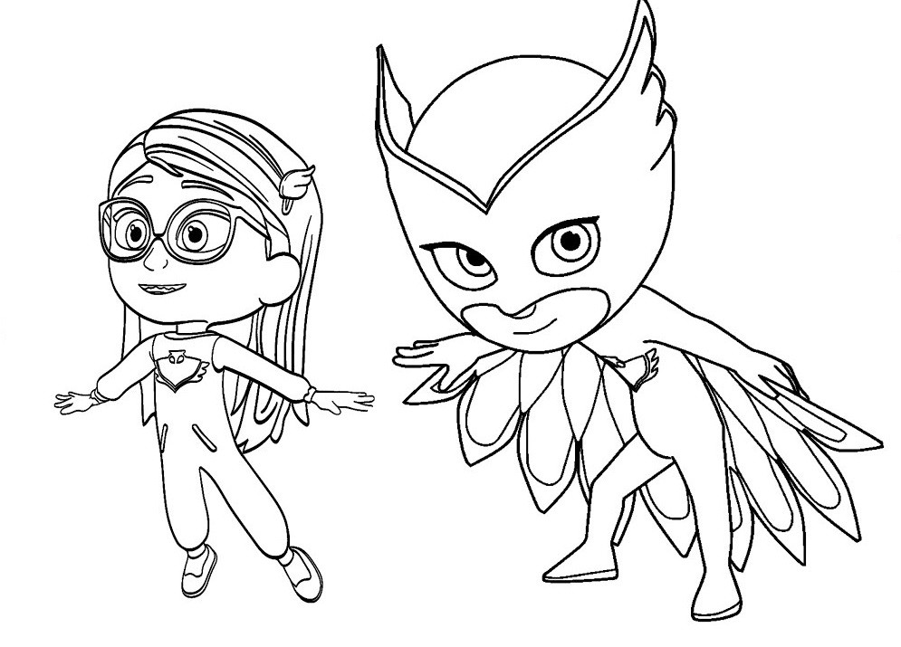 Best ideas about Pj Masks Coloring Sheet . Save or Pin Owlette Pj Masks Coloring Page Now.