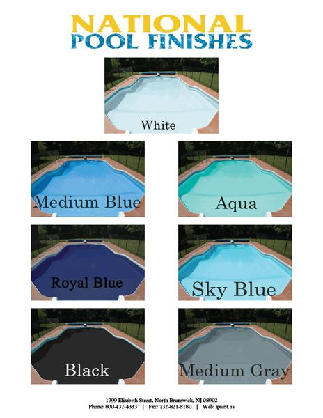 Best ideas about Pool Paint Colors . Save or Pin Aqua Kote Acrylic Waterbase Pool Paint 1 Gallon 5 Now.