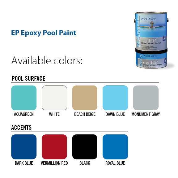 Best ideas about Pool Paint Colors . Save or Pin Ramuc EP Epoxy Swimming Pool Paint – George Townsend & Co Now.