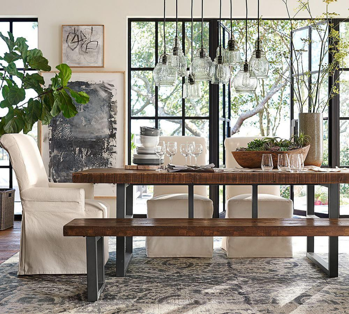 Best ideas about Pottery Barn Dining Room . Save or Pin Griffin Fixed Dining Table Now.
