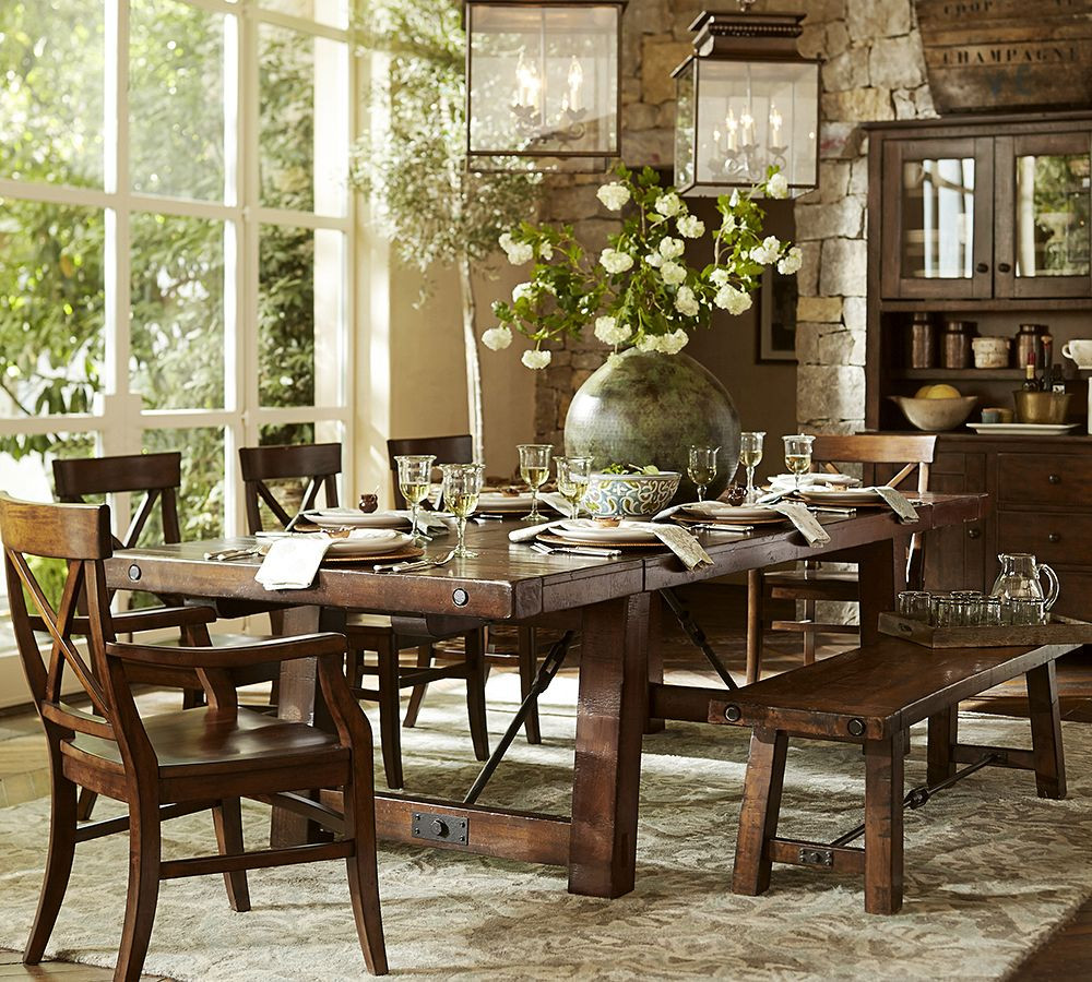 Best ideas about Pottery Barn Dining Room . Save or Pin Behind the Design Our Benchwright Dining Table Now.